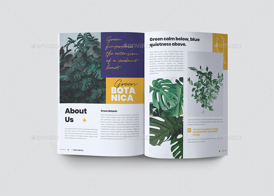 Botanical Brochure Design