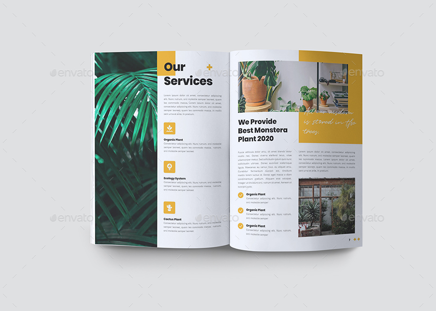 Botanical Brochure Template INDD