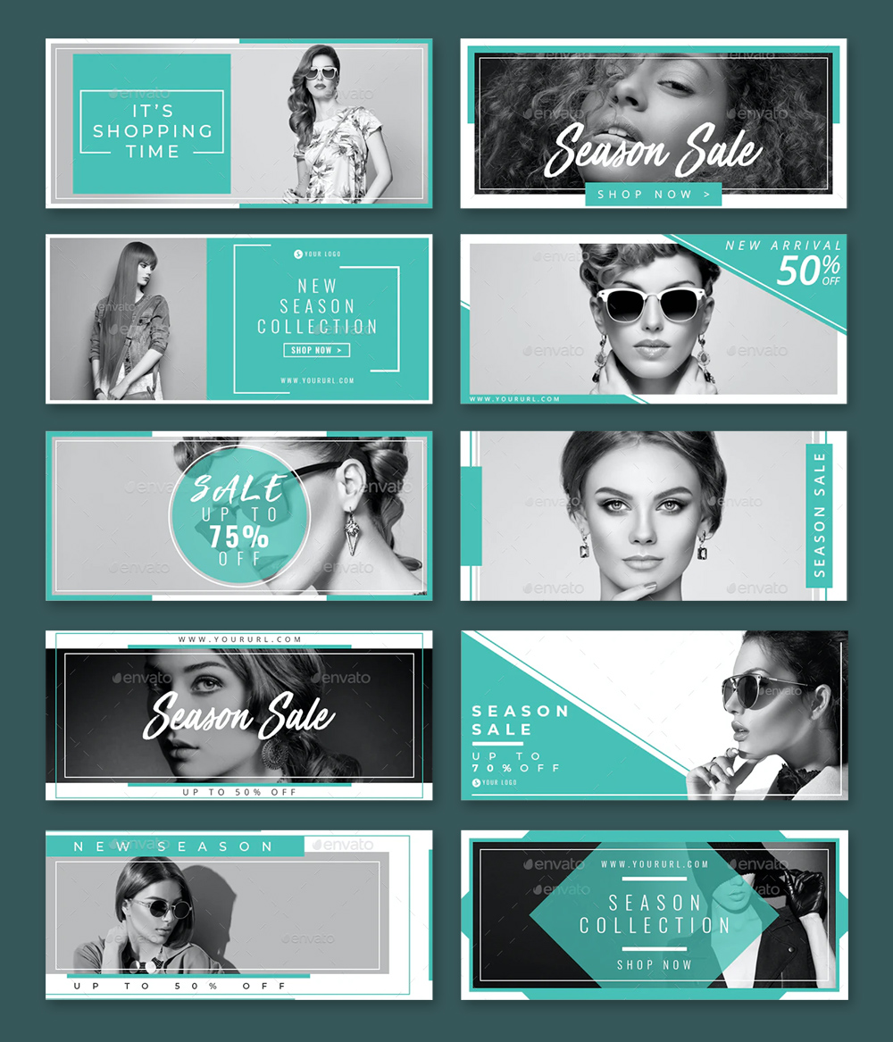 Shopping Sale Facebook Cover Templates