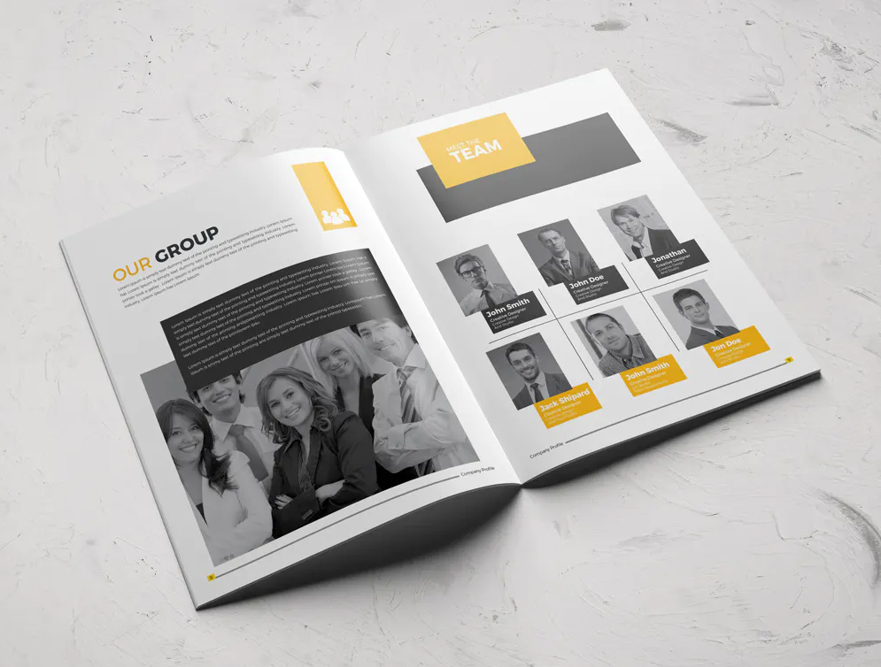Company Profile Template InDesign