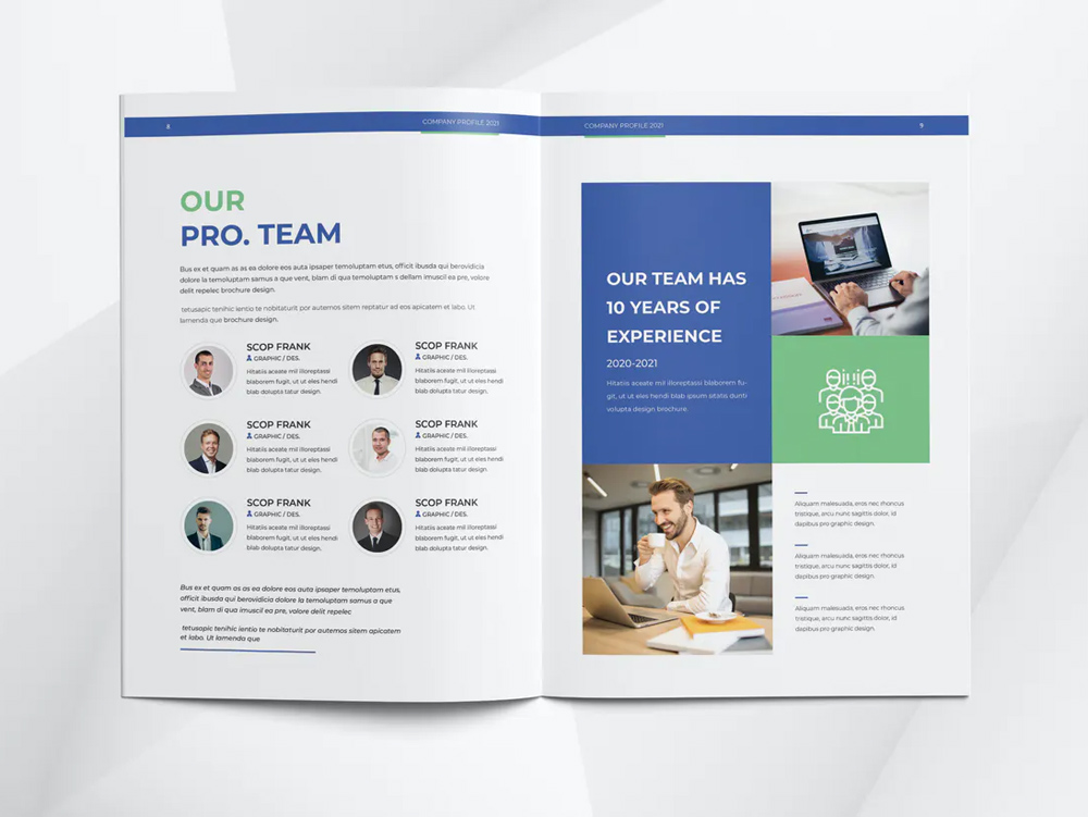 Modern Company Profile InDesign