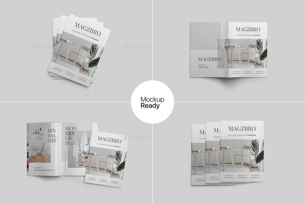 Magazine and Brochure Mockup