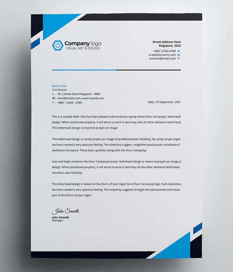 Agency Letterhead Template