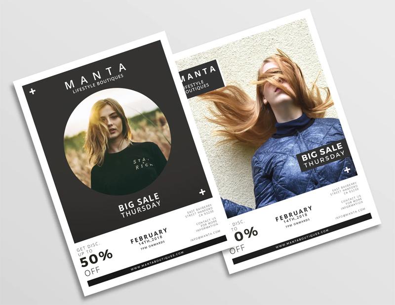 Big Sale Fashion Flyer Design