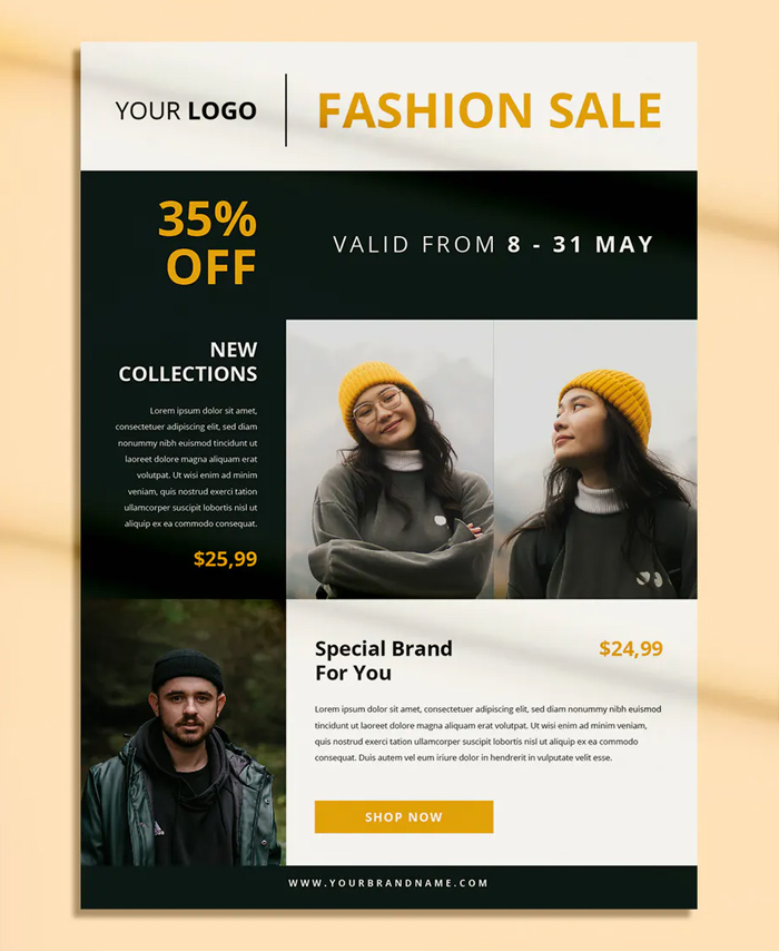 Clean Fashion Sale Flyer Template