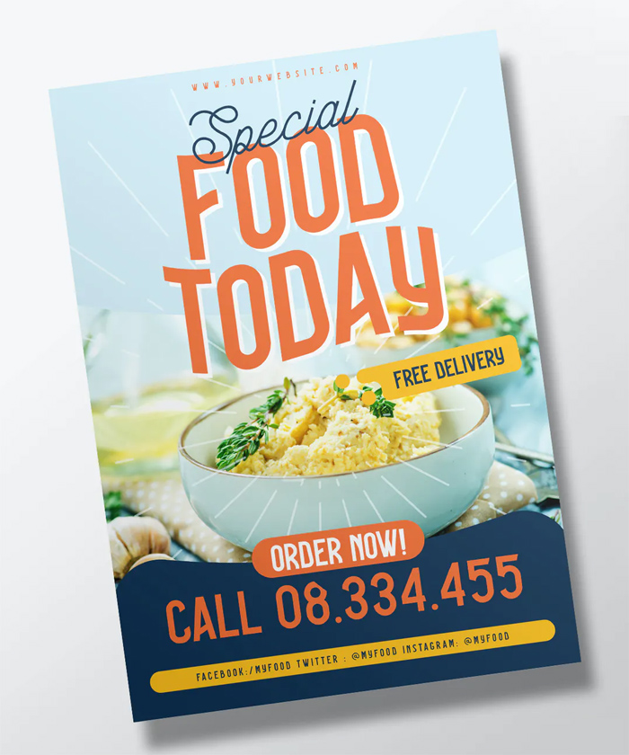 Clean Food Flyer Template