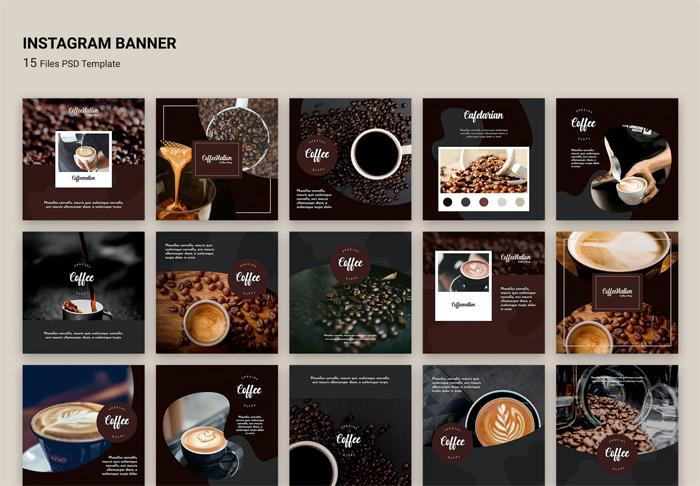 Coffee Shop Instagram Post Templates