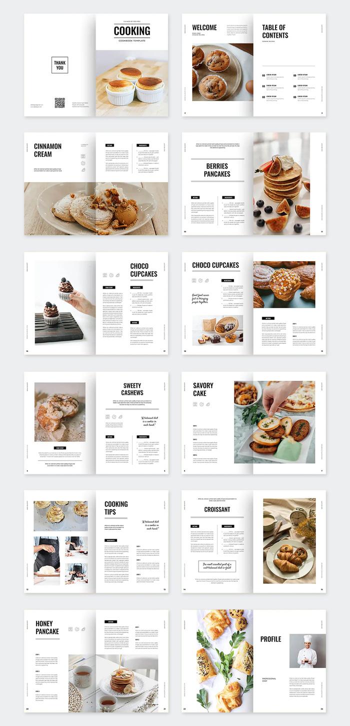 Creative Cookbook Template