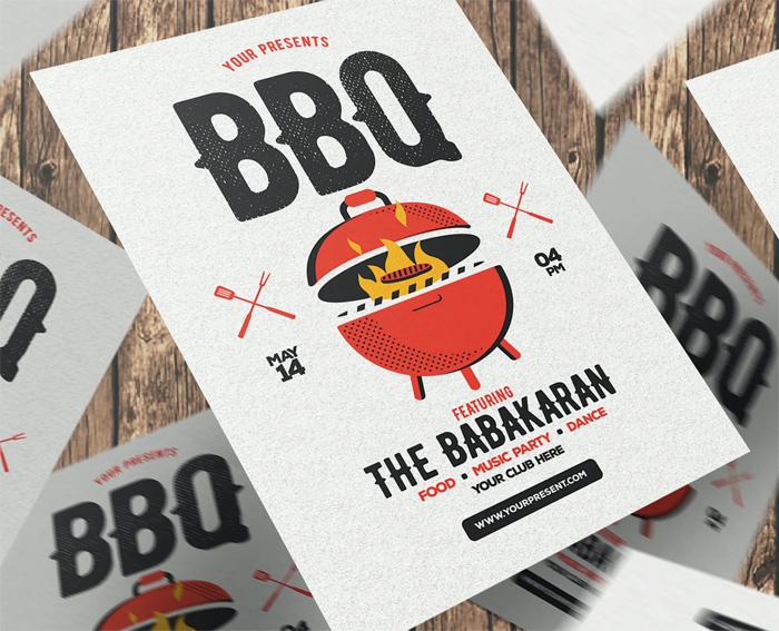 Design BBQ Party Flyer