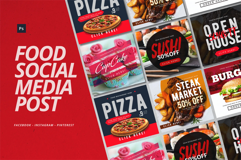 Food Instagram Post Templates