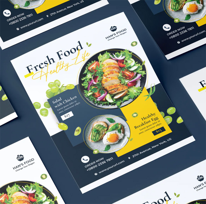 Fresh Food Flyer Design
