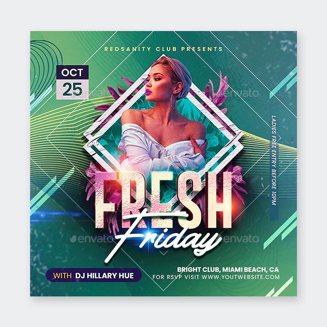 Friday Night Club Flyer Template
