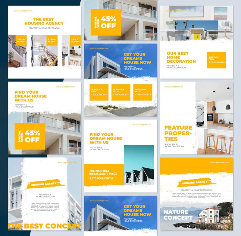 Modern Real Estate Instagram Post Template