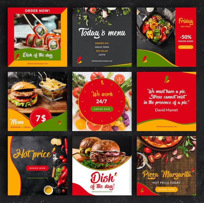 Restaurant Food Instagram Posts