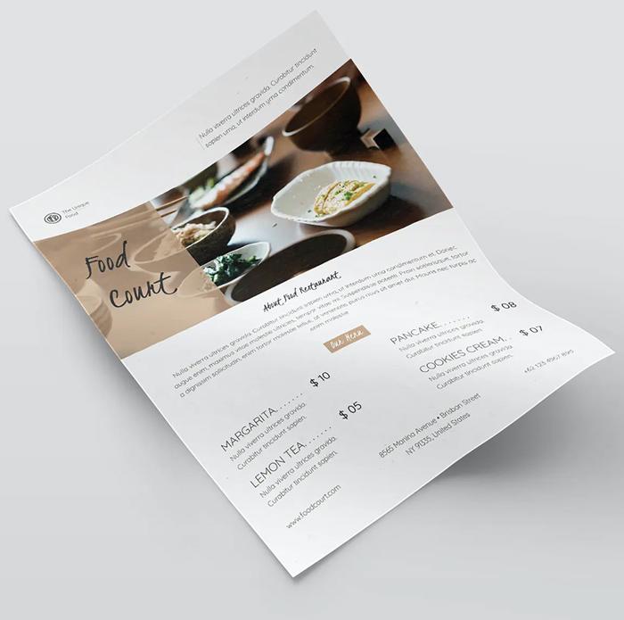 Simple Food Flyer Template