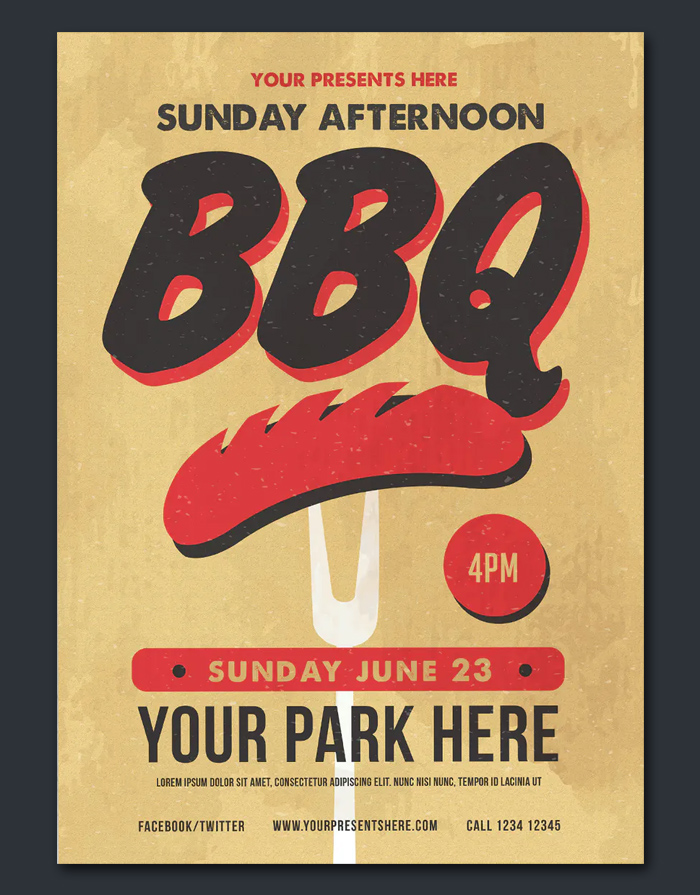 Sunday BBQ Flyer Design