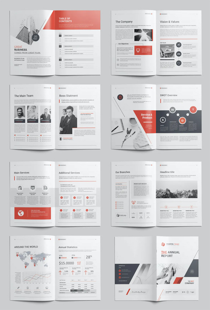 Annual Report Brochure Layout