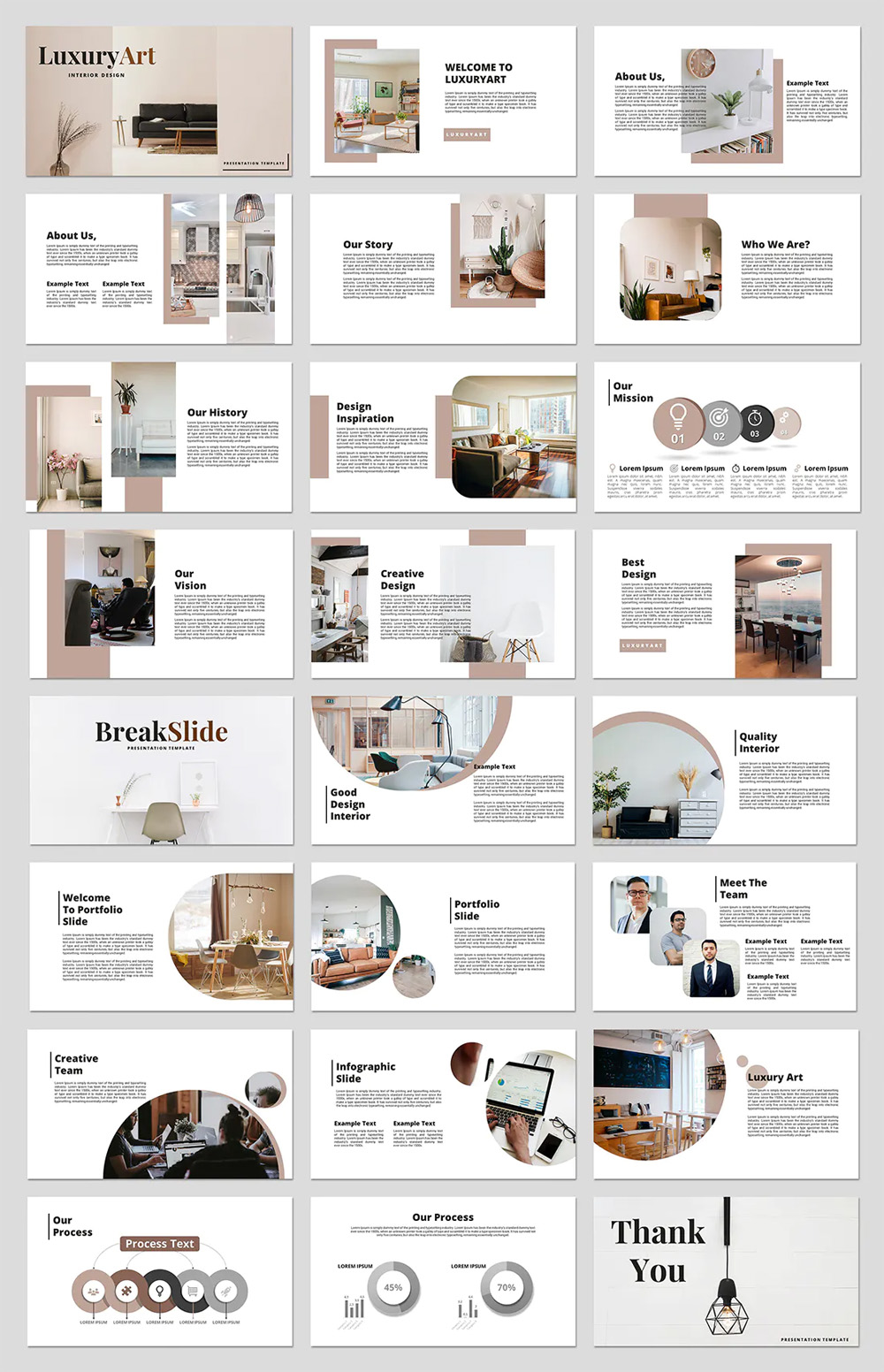 Clean Interior Powerpoint Presentation