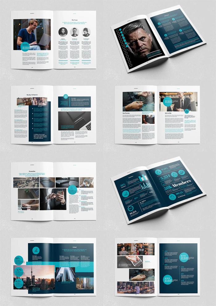 Clean Annual Report Brochure Design