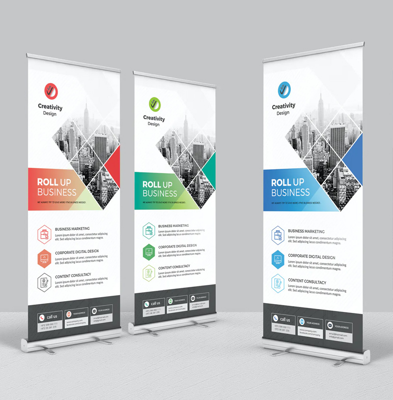 Clean Business Roll-Up Banner Design