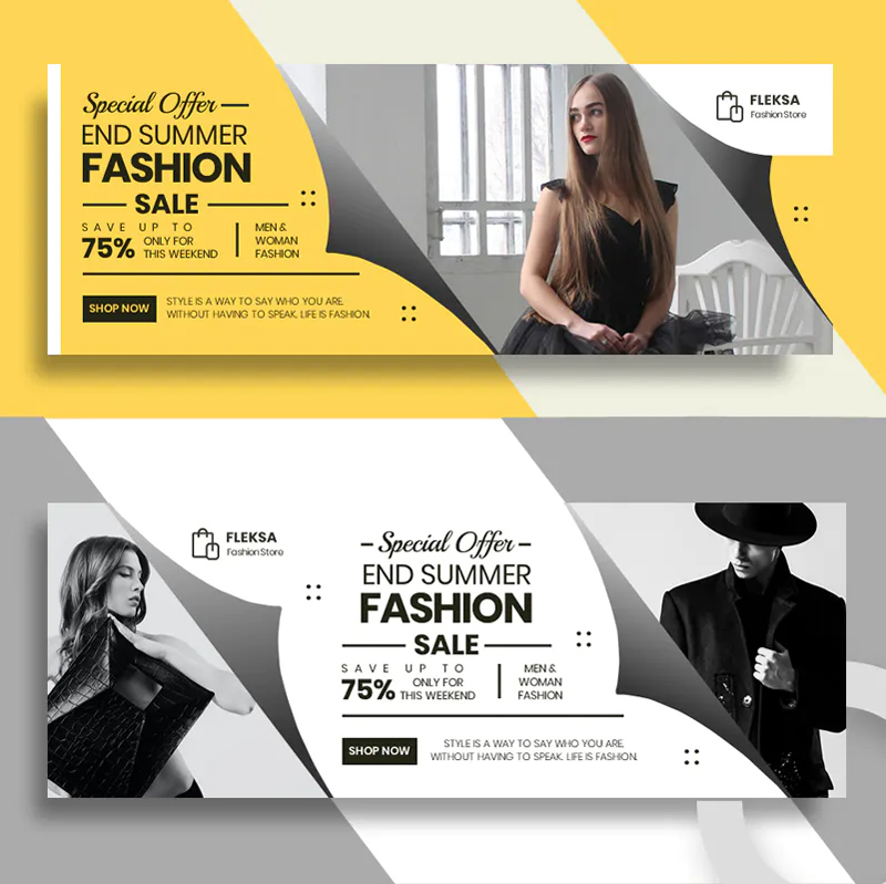Clean Fashion Facebook Cover Template