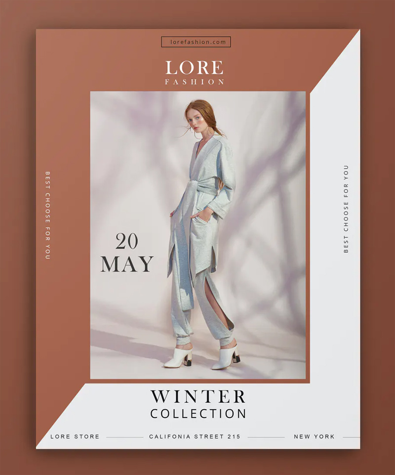 Clean Fashion Flyer Template