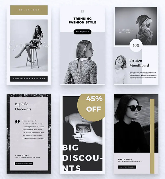 Clean Fashion Instagram Story Templates