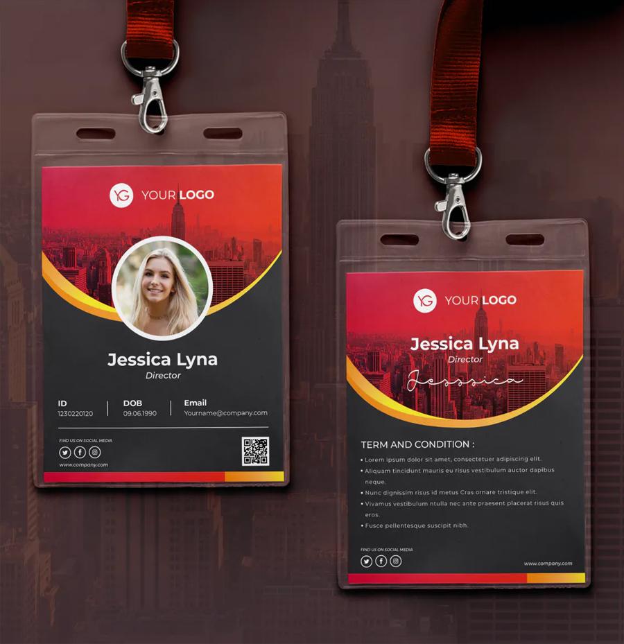 Clean ID Card Design