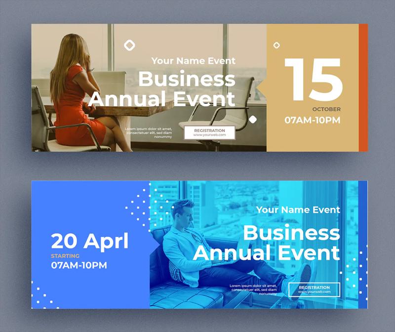 Corporate Business Facebook Cover Template