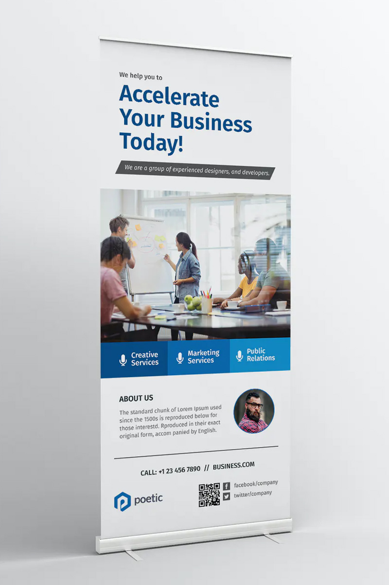 Corporate Business Roll-up Banner Template