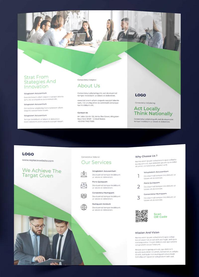 Corporate Business Tri-fold Brochure Design