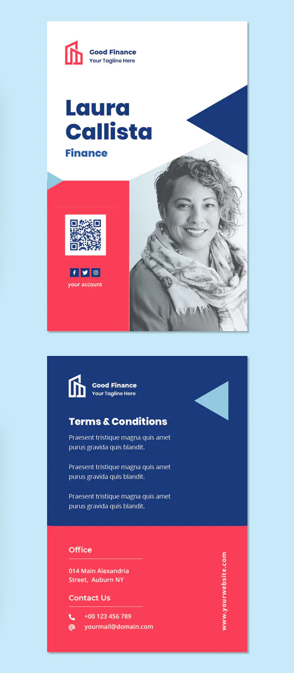 Corporate Modern ID Card Template