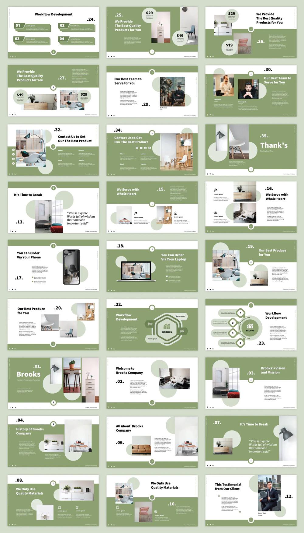 Creative Furniture Powerpoint Presentation