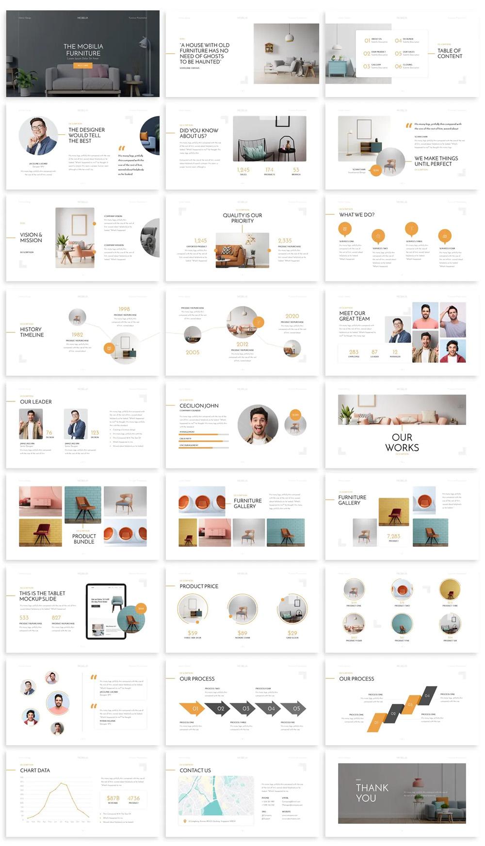 Design Interior Powerpoint Template
