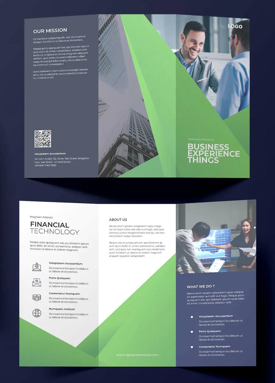 Elegant Business Trifold Brochure Design