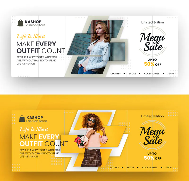 Fashion Store Facebook Cover Template