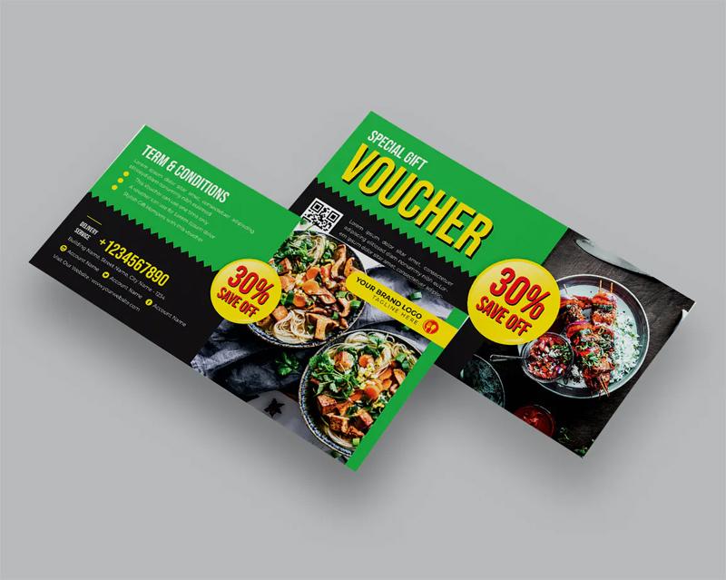Food Gift Voucher Design