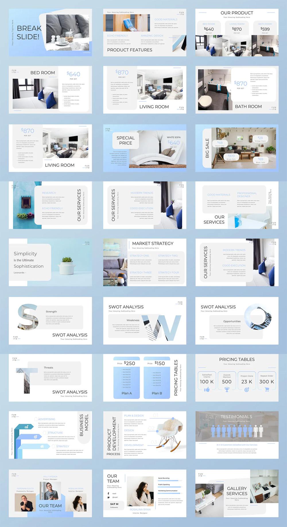 Furniture Powerpoint Presentation Template