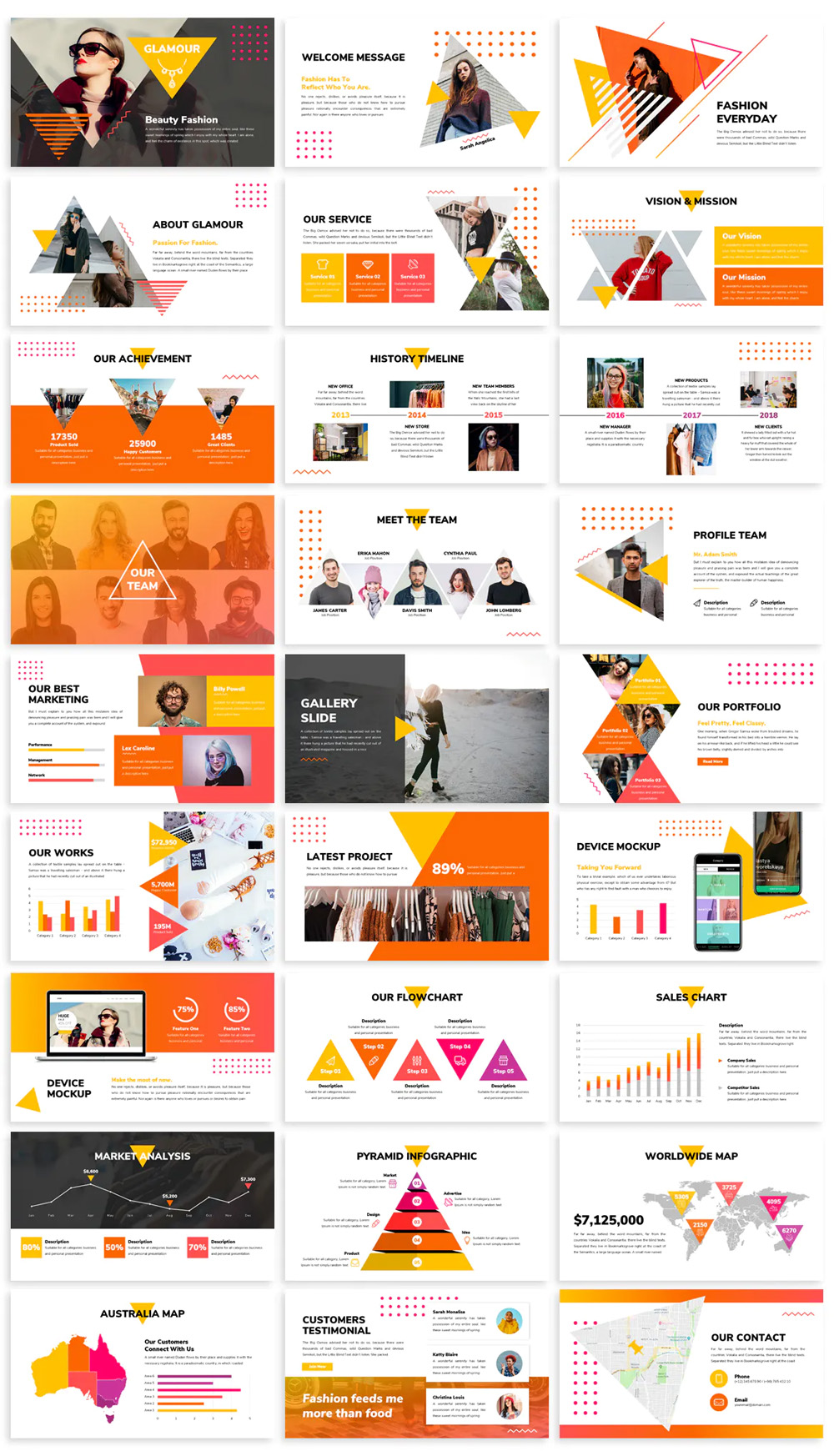 Glamour Fashion Powerpoint Template