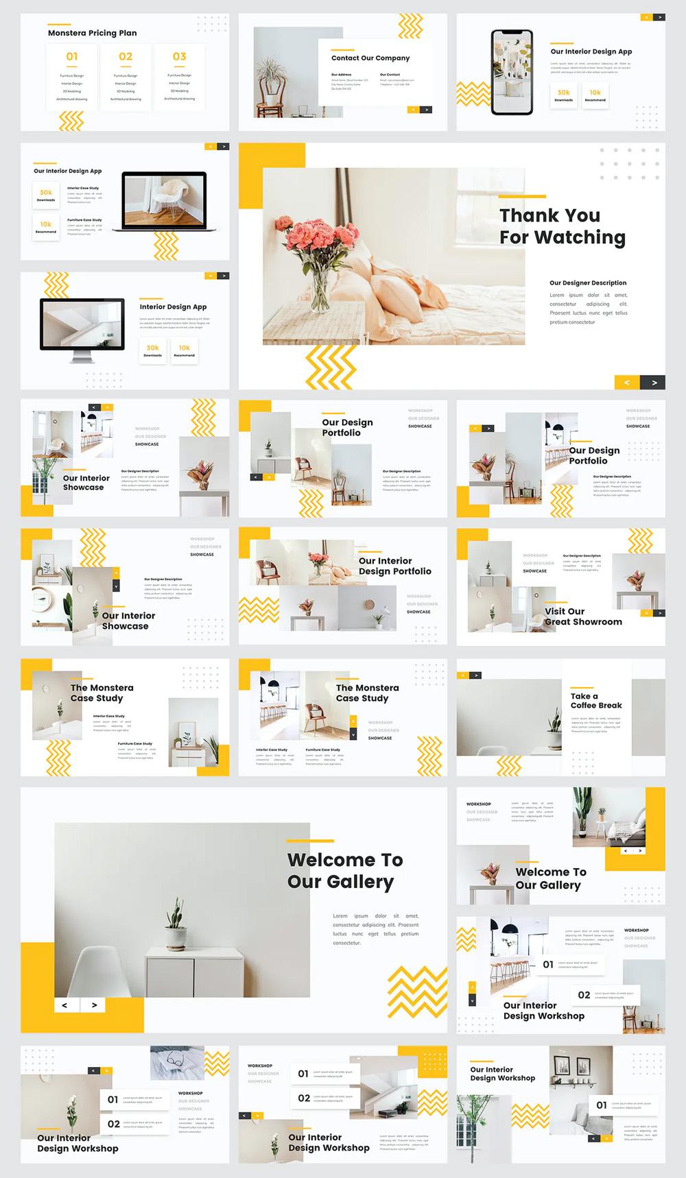 Interior Furniture Powerpoint Template