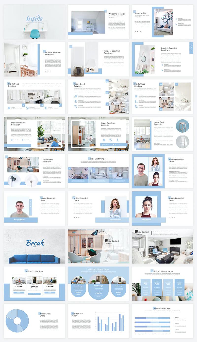Interior PowerPoint Presentation Template