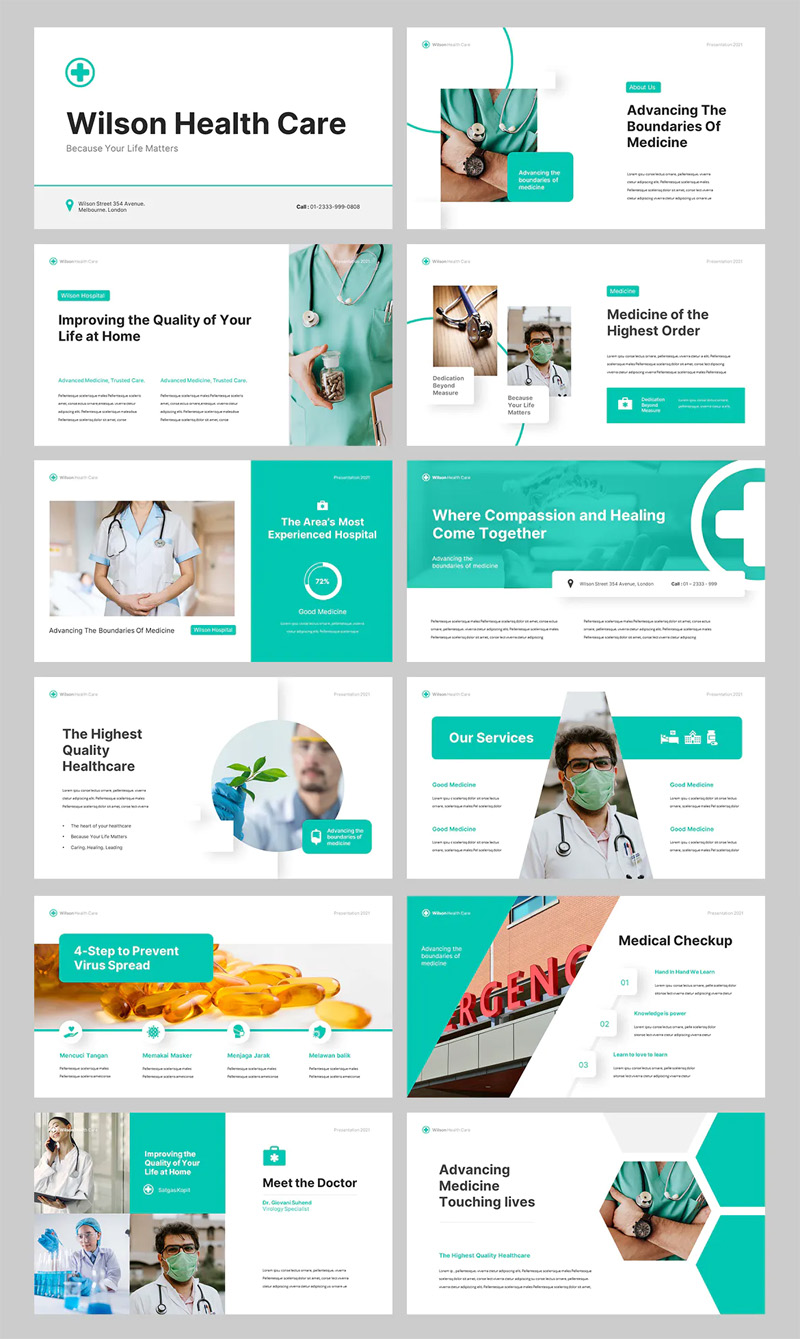 Medical and Health Powerpoint Template