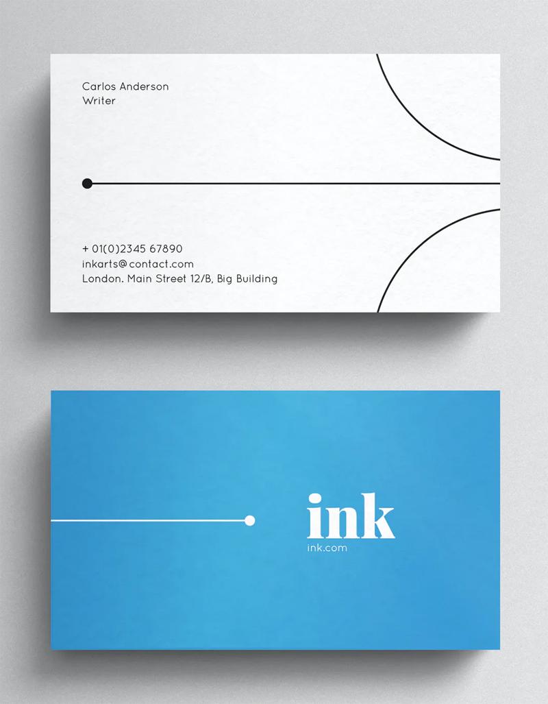 Minimal Blue Business Card Template