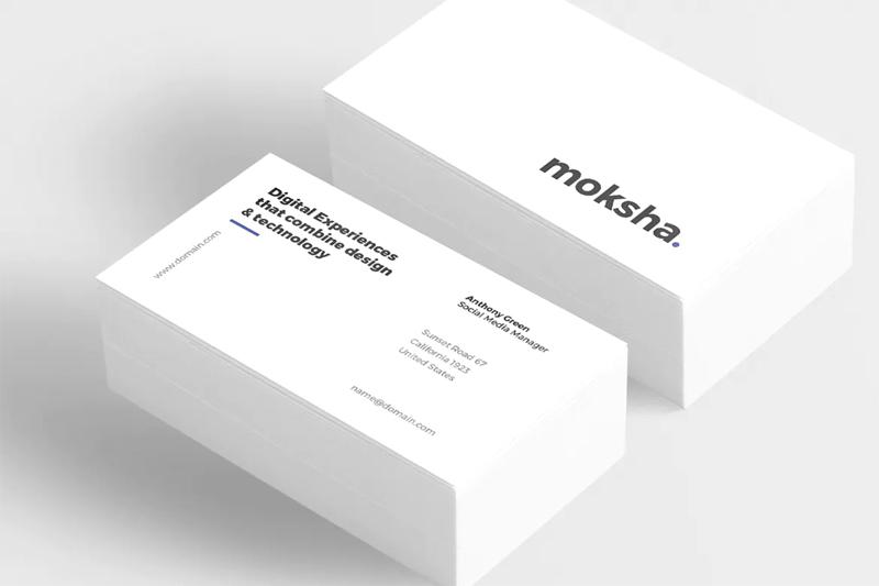 Minimal Corporate Business Card Design