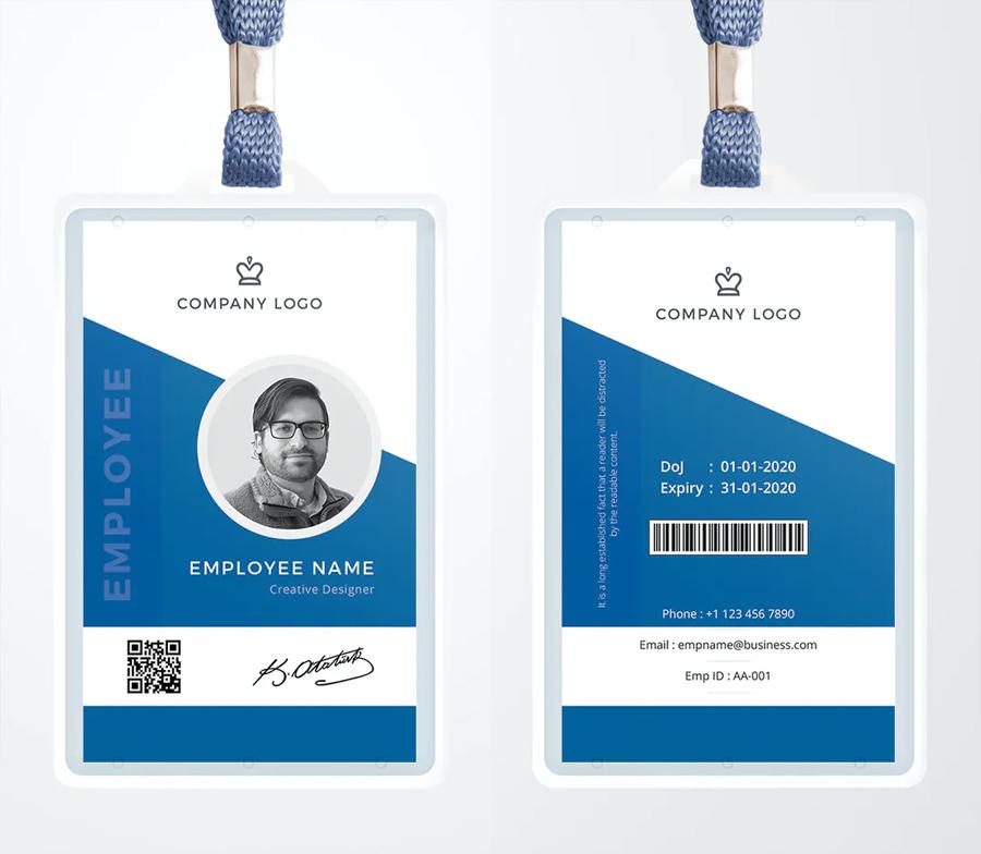 Minimal Corporate ID Card Template