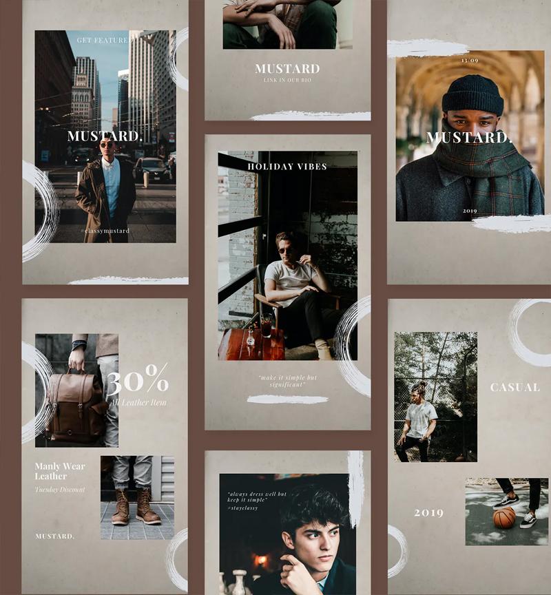 Minimal Fashion Instagram Stories Design
