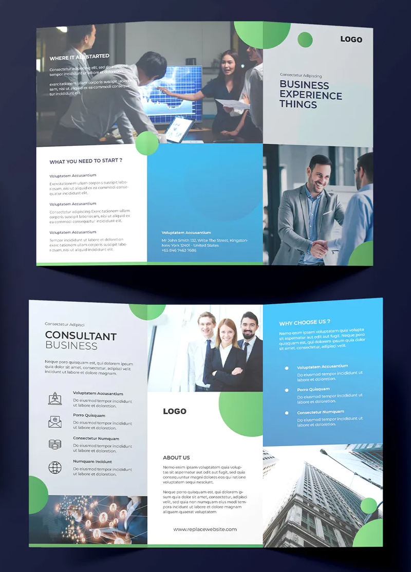 Modern Business Trifold Brochure Design