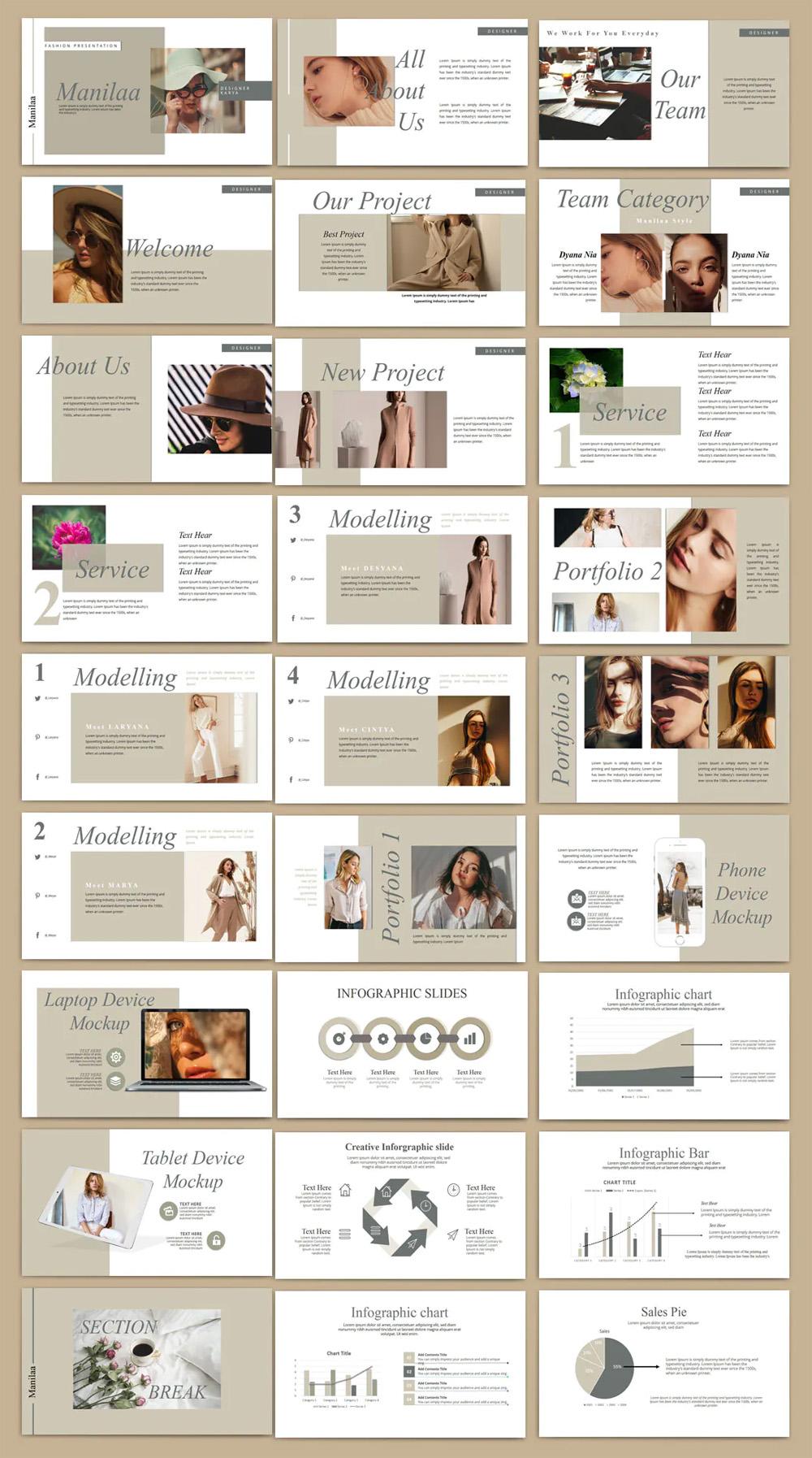 Modern Fashion Powerpoint Template