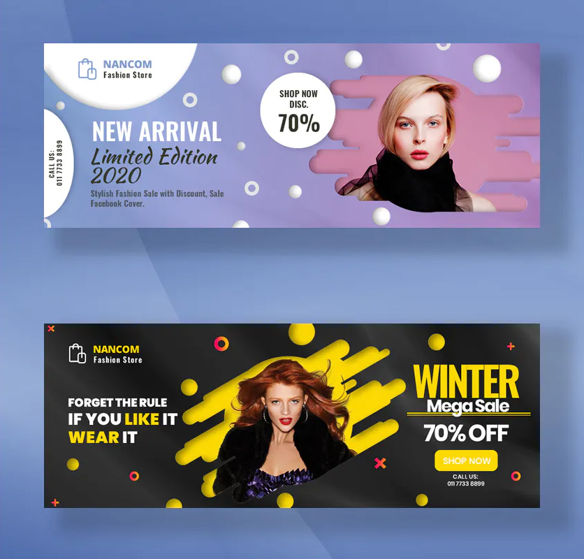 PSD Fashion Facebook Cover Template