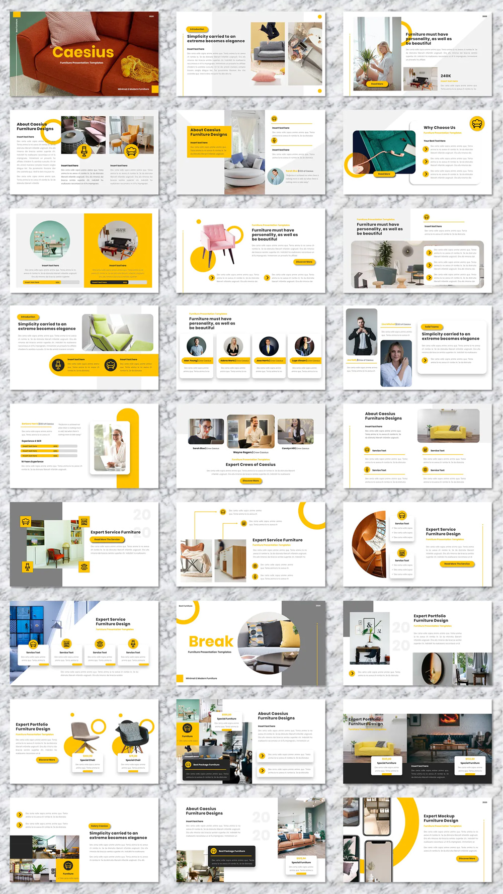 Presentation Furniture Powerpoint Templates